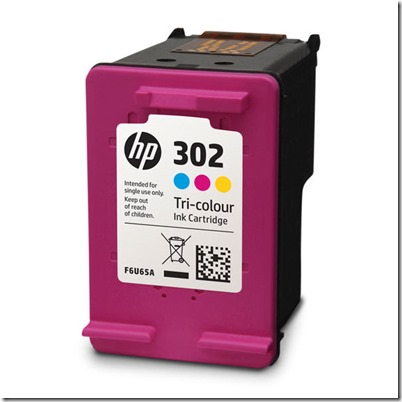 Original Genuine HP 302 Colour Ink Cartridge F6U65AE