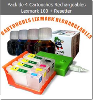 lexmark 100 rechargeabales